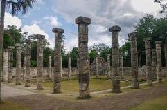 Świątyni grupa tysiąc kolumn w Majski archeological zdjęcia royalty free