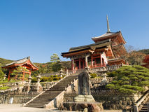 świątyni kiyomizu Zdjęcia Royalty Free