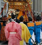 Świątyni palanquin i przewoźniki zdjęcia royalty free