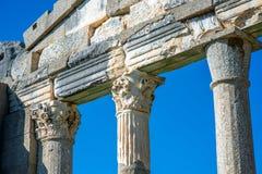 Świątyni ruiny w Antycznym Apollonia Zdjęcia Royalty Free