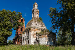 Świątynia Święta Dziewica w wiosce Avdulovo obraz royalty free