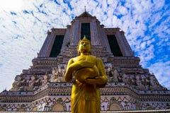 Świątynia świt, rozwala Wat Arun Ratchawararam Zdjęcie Royalty Free