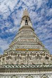 Świątynia świt, rozwala Wat Arun Ratchawararam Zdjęcia Royalty Free