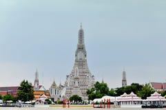 Świątynia świt rzeką w Bangkok Fotografia Stock