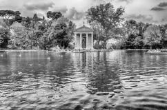 Świątynia Aesculapius w willi Borghese, Rzym Obrazy Royalty Free
