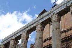 Świątynia Antonino i Faustina - Romański forum Zdjęcie Royalty Free