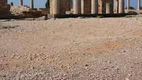 Świątynia Apollo blisko Kourion Cypr Europa zbiory wideo
