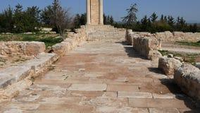 Świątynia Apollo blisko Kourion Cypr Europa zbiory