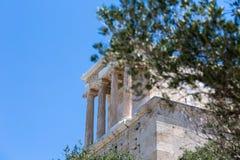 Świątynia Athena Nike, akropol Ateny, Ateny, Grecja, euro obraz stock