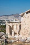 Świątynia Athena Nike na akropolu w Ateny zdjęcie stock