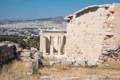 Świątynia Athena Nike na akropolu w Ateny fotografia royalty free