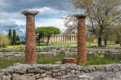 Świątynia Athena w Paestum, Włochy obraz royalty free
