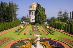 Świątynia Baba w Haifa, Bahai ogródy, Izrael Zdjęcia Royalty Free