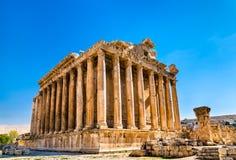 Świątynia Bacchus przy Baalbek, Liban zdjęcie stock