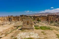 Świątynia Bacchus romans rujnuje Baalbek Beeka Liban Obrazy Royalty Free