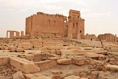 Świątynia bel Ruiny antyczny miasto Palmyra króko przedtem wojna, 2011 Fotografia Royalty Free