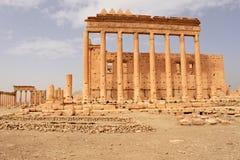 Świątynia bel Ruiny antyczny miasto Palmyra króko przedtem wojna, 2011 Obrazy Stock