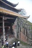 Świątynia blisko falezy zdjęcia stock