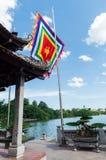 Świątynia chabet góra na Hoan Kiem jeziorze w Hanoi, Wietnam Zdjęcia Stock