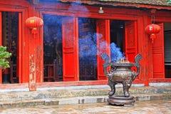 Świątynia chabet góra W Hoan Kiem jeziorze, Hanoi Wietnam Obrazy Royalty Free