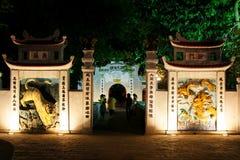 Świątynia chabet góra W Hoan Kiem jeziorze, Hanoi Wietnam Zdjęcie Royalty Free