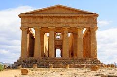 Świątynia Concordia, Agrigento - Zdjęcia Stock