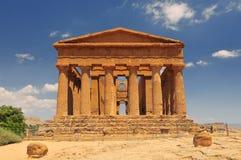 Świątynia Concordia Dolina świątynie w Agrigento na Sicily Włochy fotografia stock