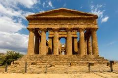 Świątynia Concordia w Agrigento, Sicily Fotografia Royalty Free