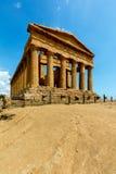 Świątynia Concordia w Agrigento, Sicily Obraz Stock