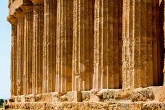 Świątynia Concordia w Agrigento, Sicily Obrazy Stock
