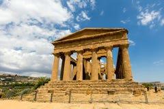 Świątynia Concordia w Agrigento, Sicily Obrazy Royalty Free