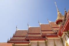Świątynia dachowy Tajlandzki styl Zdjęcia Stock