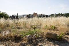, świątynia Dioscuri, Agrigento, Sicily - Zdjęcia Stock