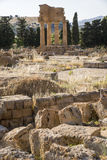 , świątynia Dioscuri, Agrigento, Sicily - Obrazy Royalty Free