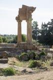 , świątynia Dioscuri, Agrigento, Sicily - Obraz Stock