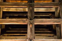 Świątynia drewniane struktury Zdjęcia Royalty Free