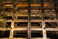 Świątynia drewniane struktury Obraz Royalty Free