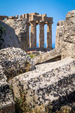 Świątynia E przy Selinunte w Sicily Zdjęcie Stock