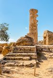 Świątynia Ercole, lokalizować w parku dolina świątynie w Agrigento, Sicily Zdjęcia Royalty Free
