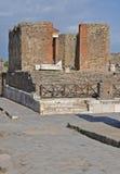 Świątynia Fortuna Augusta w antycznym Pompeii Fotografia Stock
