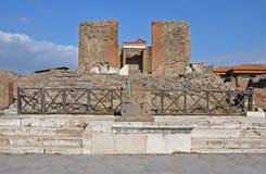 Świątynia Fortuna Augusta w antycznym Pompeii, Włochy Obrazy Royalty Free