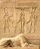 Świątynia Hathor, Dendera, Cleopatra, Caesar Osiris, ścienny Luxor Egipt, znaki i symbole, zdjęcia royalty free