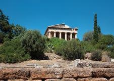 Świątynia Hephaestus, agora, Ateny Zdjęcia Stock