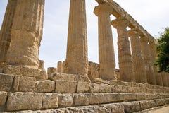 Świątynia Hera, Agrigento, Sicily - Fotografia Royalty Free