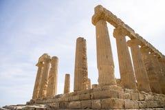 Świątynia Hera, Agrigento, Sicily - Zdjęcia Stock