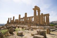 Świątynia Hera, Agrigento, Sicily - Zdjęcia Royalty Free