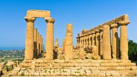 Świątynia Hera, Juno, Lacinia przy Agrigento doliną świątynia, Sicily Zdjęcie Royalty Free