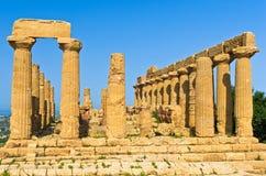 Świątynia Hera, Juno, Lacinia przy Agrigento doliną świątynia, Sicily Obrazy Stock