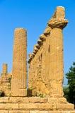 Świątynia Hera, Juno, Lacinia przy Agrigento doliną świątynia, Sicily Obraz Royalty Free