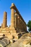 Świątynia Hera, Juno, Lacinia przy Agrigento doliną świątynia, Sicily Obrazy Royalty Free